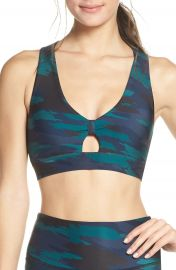 Soul by SoulCycle Knot Front Sports Bra   Nordstrom at Nordstrom