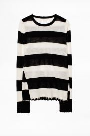Source Stripe Cachemire Sweater at Zadig & Voltaire