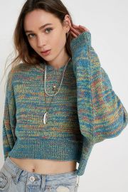 Space Dye Hooded Pullover Jumper at Urban Outfitters