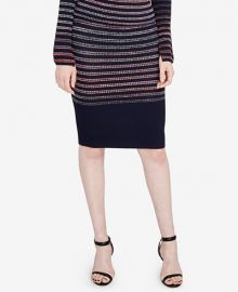 Space-Dyed Striped Pencil Skirt by RACHEL Rachel Roy at Macys