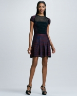 Space dye and mesh dress by M Missoni at Neiman Marcus