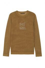 Sparkle Boy Girl Jumper in Gold Lurex by J Brand at J Brand