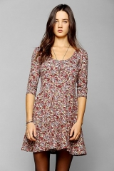 Sparkle and Fade 34-Sleeve Knit Skater Dress at Urban Outfitters