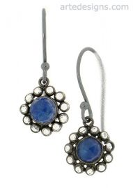 Sparkly Lapis Drop Earrings at Arte Designs