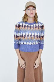 Special Edition Sequin Argyle Sweater by Zara at Zara