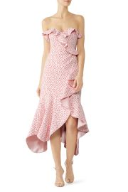 Speckle Print Asymmetric Ruffle Dress at Rent the Runway