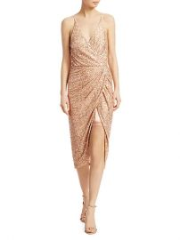 Speckled Sequin Wrap Dress at Saks Off 5th