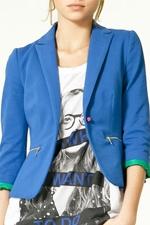 Spencers blue blazer at Zara