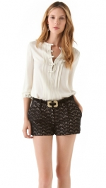 Lemons bow blouse by DVF at Shopbop