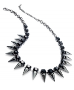 Spiked necklace by Bar III at Macys