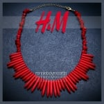 Spiked necklace by H and M at eBay