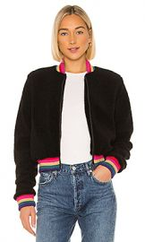 Spiritual Gangster Everything SG Furry Bomber Jacket in Vintage Black from Revolve com at Revolve