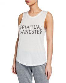Spiritual Gangster Logo Varsity Muscle Tank at Neiman Marcus