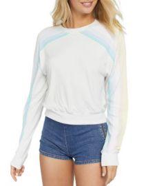 Spiritual Gangster Malibu Striped-Sleeve Cropped Sweatshirt Women - Bloomingdale s at Bloomingdales