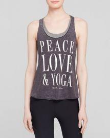Spiritual Gangster Tank - Peace Love andamp Yoga at Bloomingdales