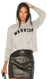 Spiritual Gangster Warrior Arch Crop Hoodie in Heather Grey from Revolve com at Revolve