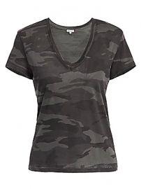 Splendid - Kate V-Neck Camo T-Shirt at Saks Fifth Avenue