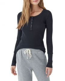 Splendid Forever Thermal Henley Top at Neiman Marcus