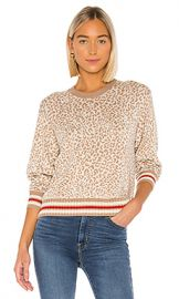 Splendid Leo Reversible Pullover in Camel  Heather Oatmeal  amp  True Red Stripe from Revolve com at Revolve