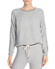 Splendid Leopard-Sleeve Sweatshirt - 100  Exclusive  Women - Bloomingdale s at Bloomingdales