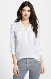 Splendid Lightweight Chest Pocket Shirt in White at Nordstrom