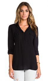 Splendid Shirting Top in Black from Revolve com at Revolve