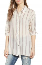 Splendid Stripe Woven Shirt at Nordstrom