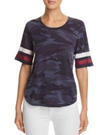 Splendid Striped-Sleeve Camo Tee - 100  Exclusive  Women - Bloomingdale s at Bloomingdales