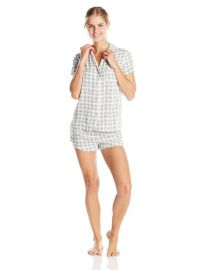 Splendid Womenand39s Woven Classic Pajama Set  in Vintage Pineapple at Amazon