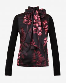 Splendour bow neck knit top at Ted Baker