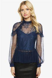 Splice Lace Blouse by Bardot at Bardot
