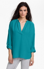 Split neck tunic by Vince Camuto at Nordstrom