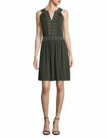 Splitneck Stud Accented Dress at Lord & Taylor