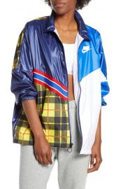 Sportswear NSW Woven Plaid Jacket at Nordstrom