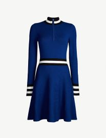 Sporty high-neck knitted dress at Selfridges