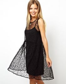 Spot Smock Dress at Asos