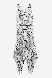 Spot pleat pinafore dress at Topshop