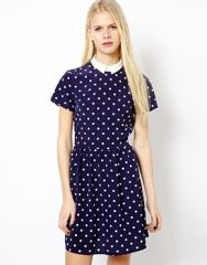 Spotty Tappy Dress by River Island at Asos