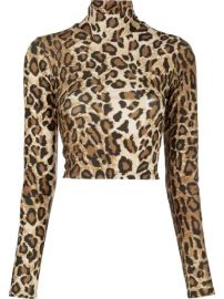 Sprwmn Leopard Print Roll Neck Top - Farfetch at Farfetch