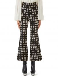 Square-G Logo Print Faille Crop Flare Pants at Nordstrom