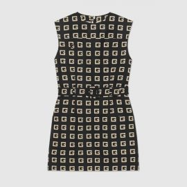 Square G print faille short dress at Gucci