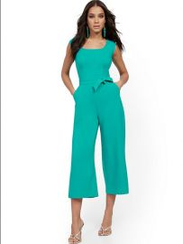 Square-Neck Belted Jumpsuit  at NY&C