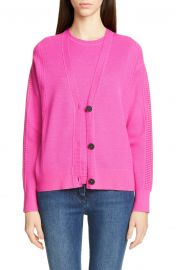 St  John Collection Placed Pattern Button Cardigan   Nordstrom at Nordstrom