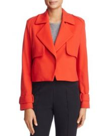 St  Emile Solveig Cropped Trench Jacket at Bloomingdales