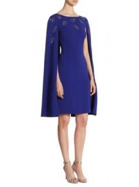 St  John - Embellished Cape Dress at Saks Fifth Avenue