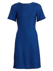 St  John - Gridded Texture Knit Dress at Saks Fifth Avenue
