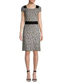 St  John - Inlaid Eyelash Knit Sheath Dress at Saks Fifth Avenue