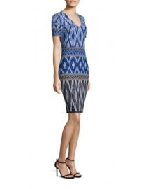 St  John - Patterned Wool-Blend Dress at Saks Fifth Avenue