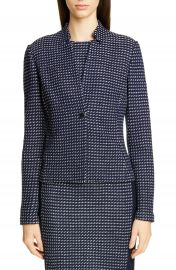 St  John Collection Dotted Inlay Tweed Knit Jacket   Nordstrom at Nordstrom