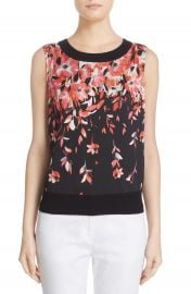 St  John Collection Floral Print Shell at Nordstrom